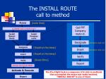 the install route call to method