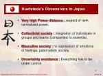 hoefstede s dimensions in japan
