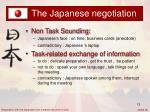 the japanese negotiation