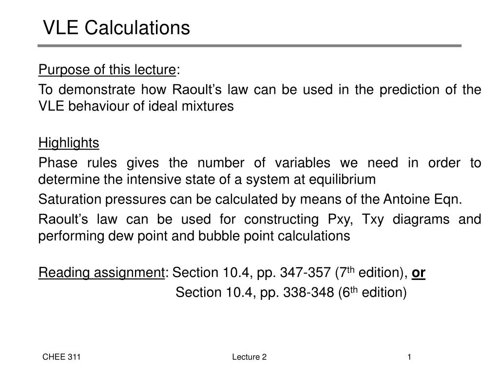vle calculations l.