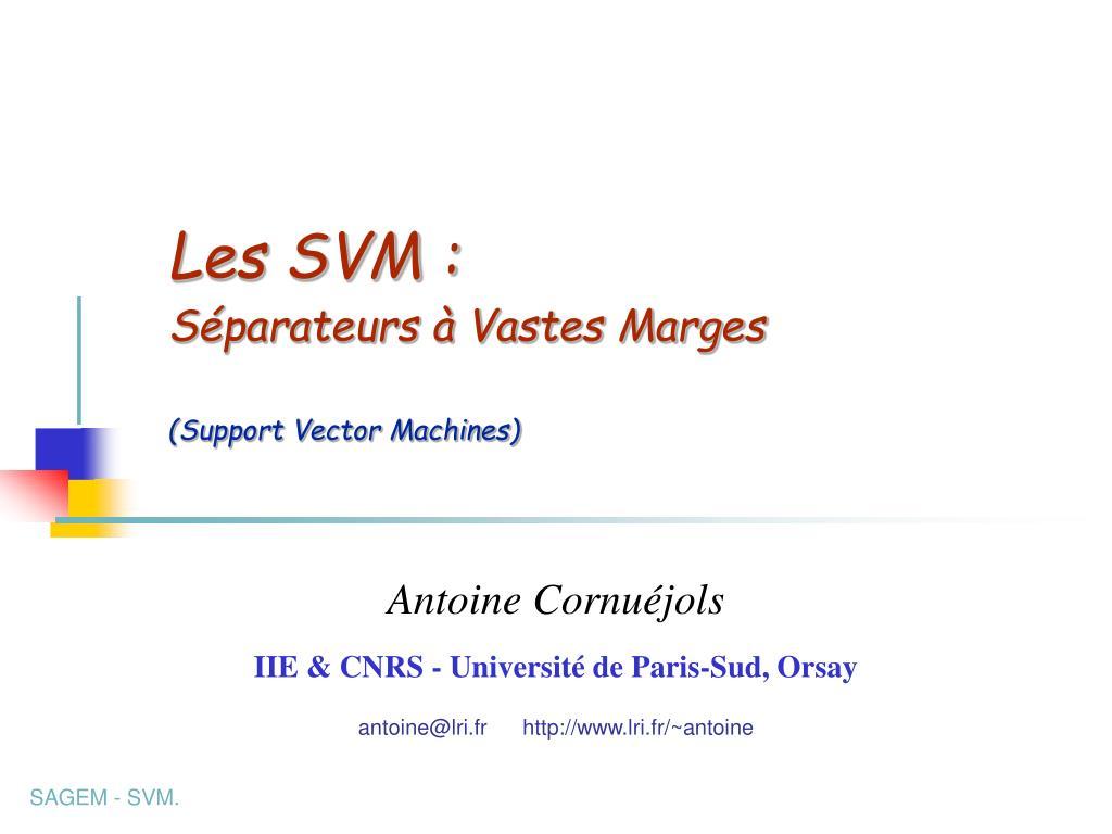 les svm s parateurs vastes marges support vector machines l.