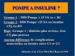 pompe a insuline