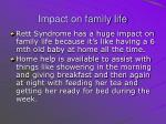 impact on family life