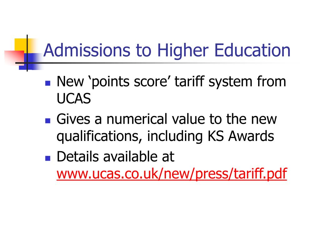 Admissions to Higher Education