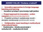 added value dodana vrednot