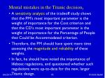 mental mistakes in the titanic decision 3