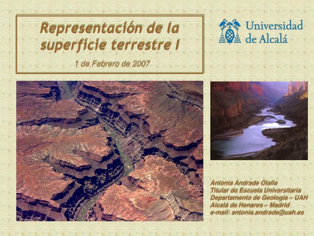 representaci n de la superficie terrestre i 1 de febrero de 2007 l.