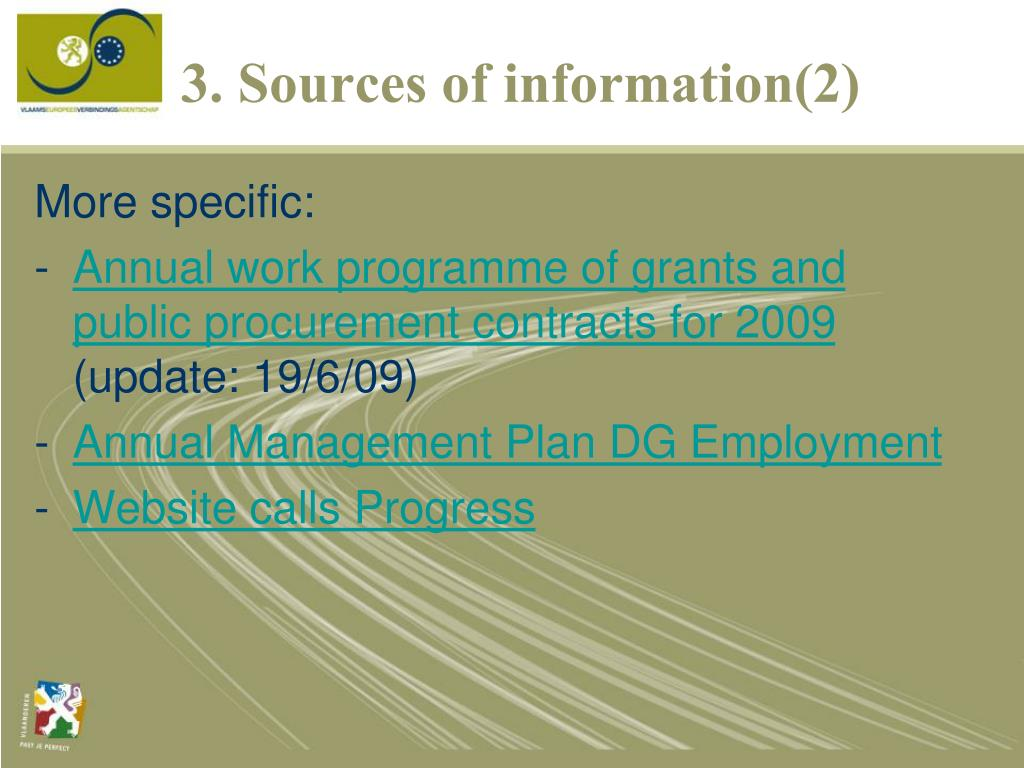 3. Sources of information(2)