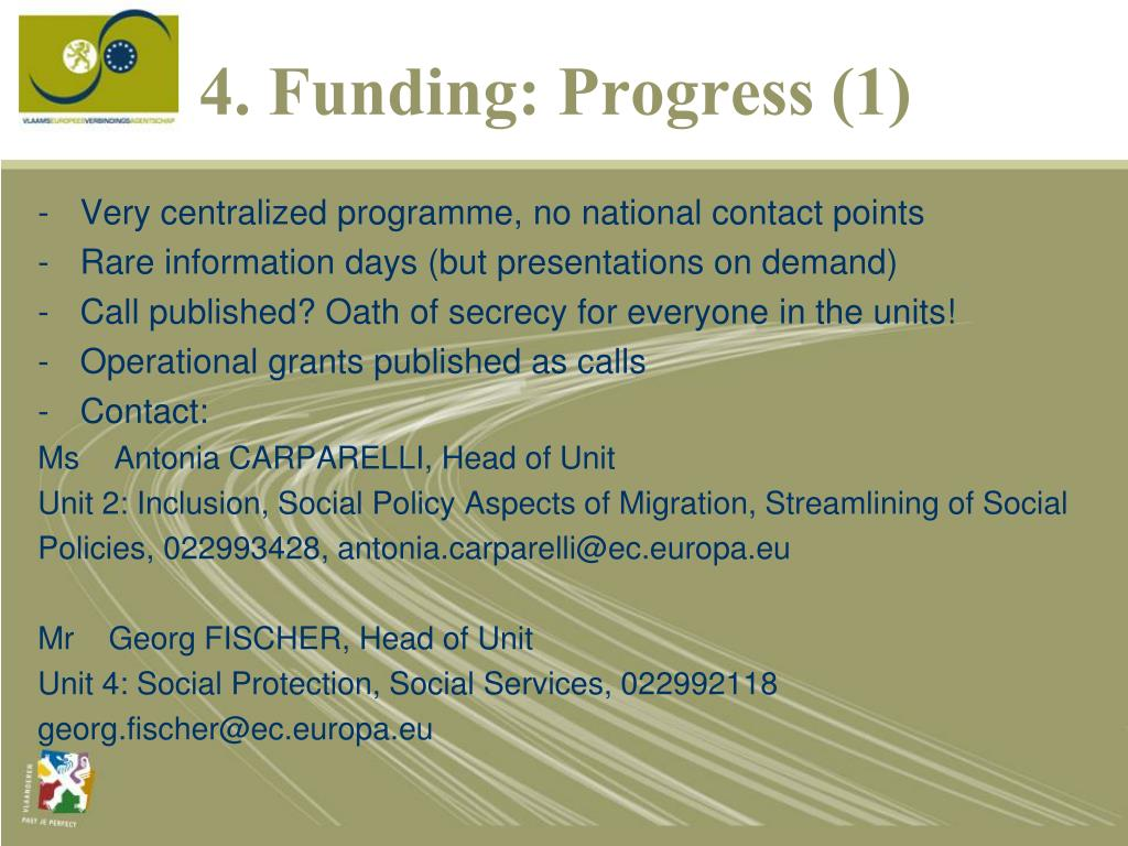 4. Funding: Progress (1)