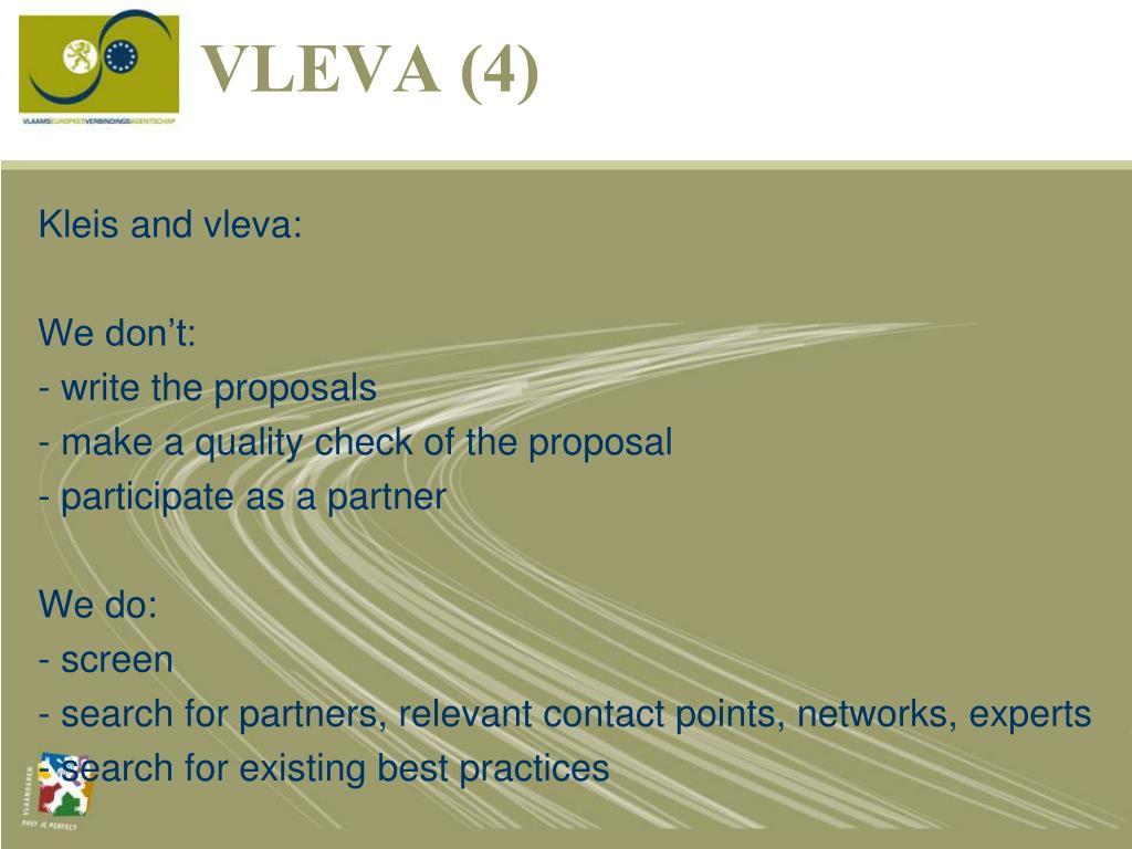 Kleis and vleva:
