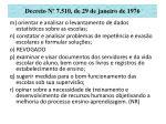 decreto n 7 510 de 29 de janeiro de 197625