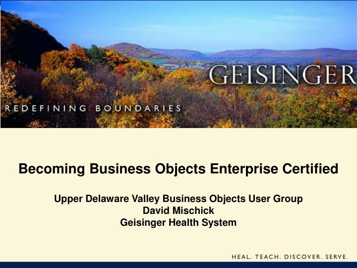 becoming business objects enterprise certified n.