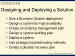 designing and deploying a solution