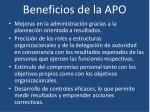 beneficios de la apo
