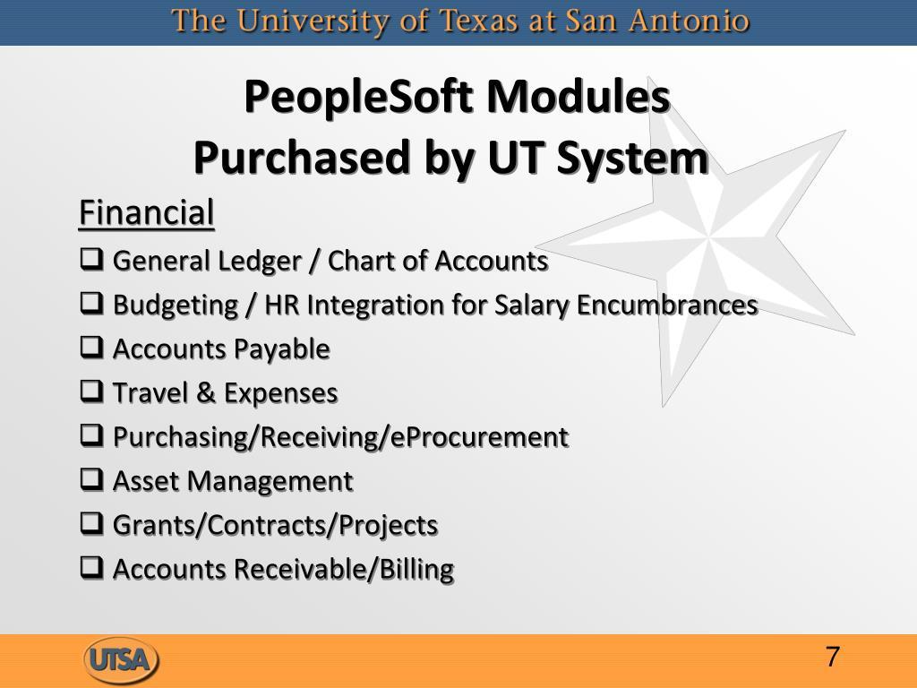 PeopleSoft Modules