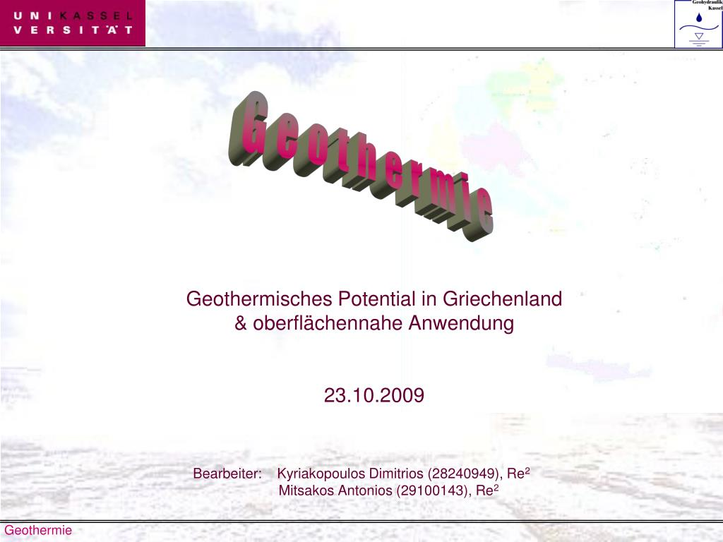 geothermisches potential in griechenland oberfl chennahe anwendung 23 10 2009 l.