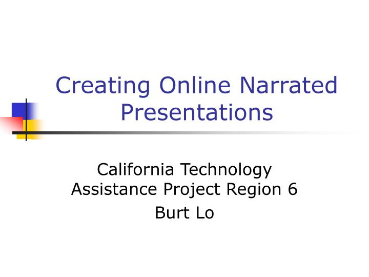 Creating online narrated presentations
