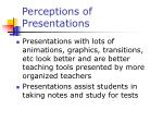 perceptions of presentations