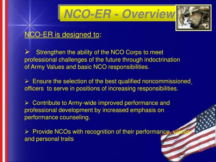 Nco er overview