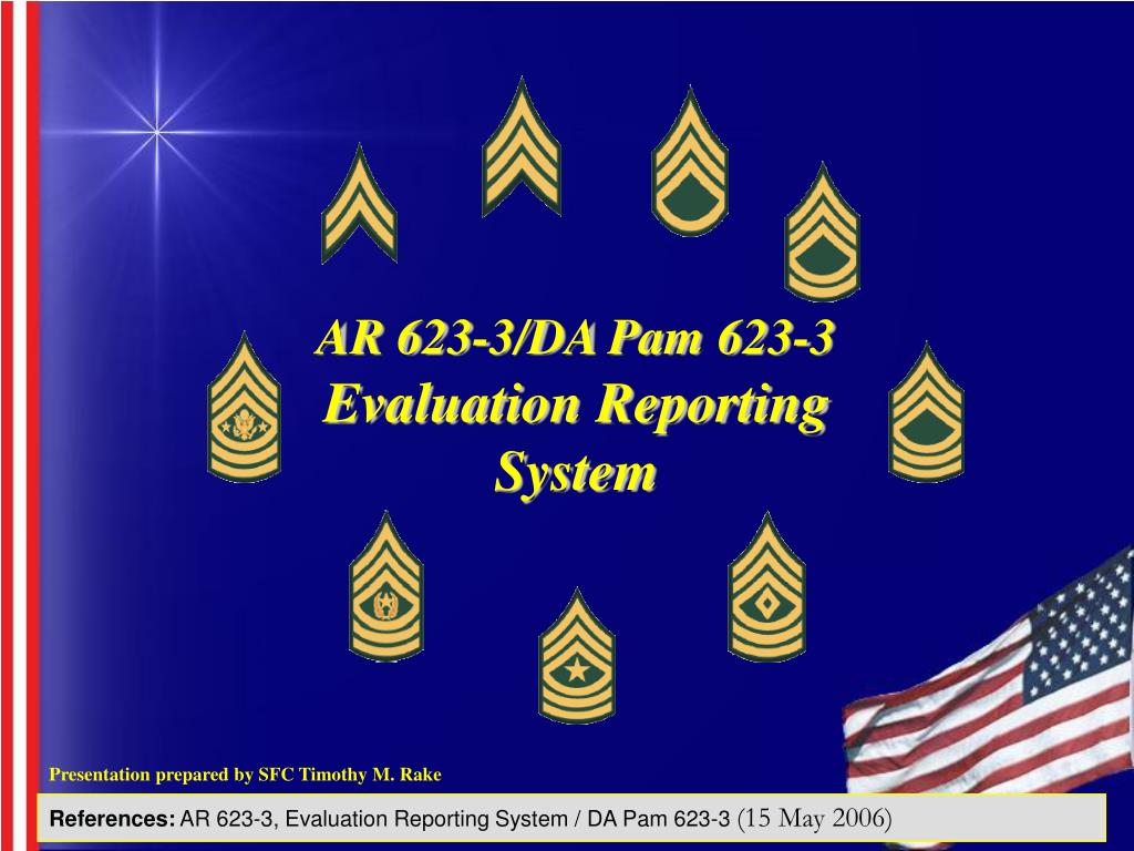 AR 623-3/DA Pam