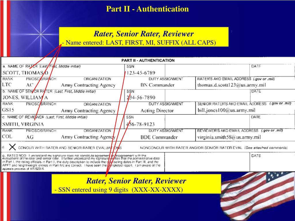 Part II - Authentication