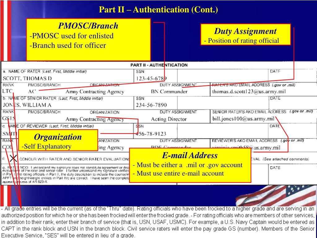 Part II – Authentication (Cont.)