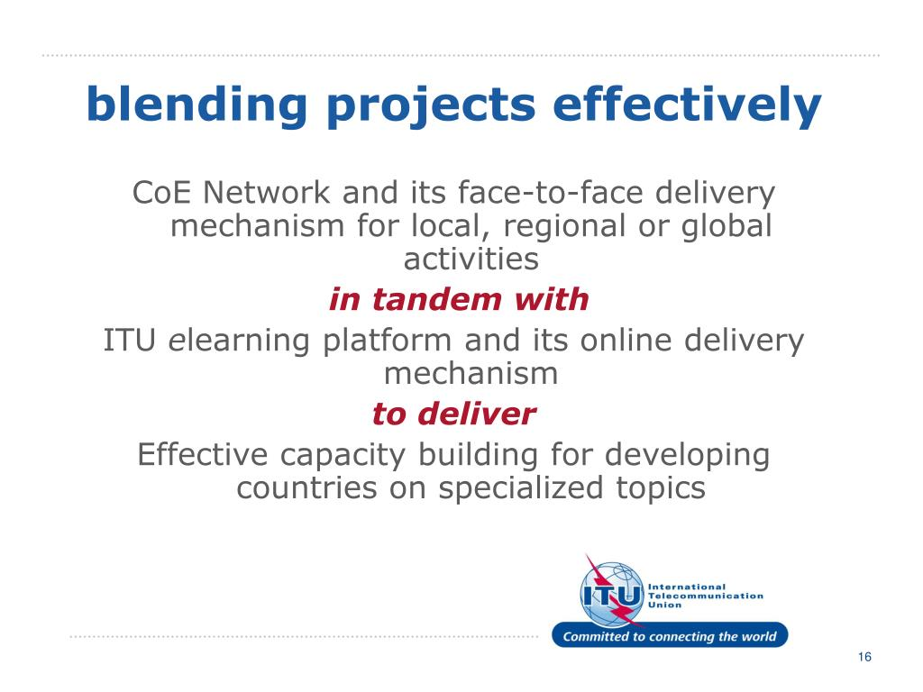 blending projects effectively