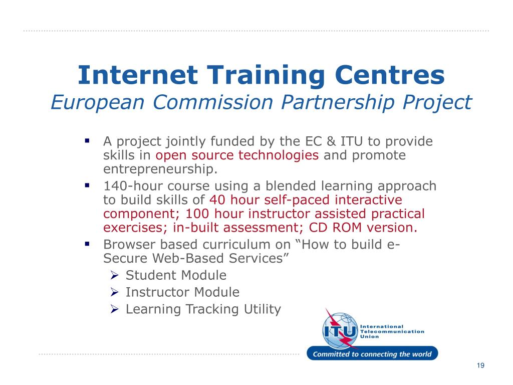 Internet Training Centres