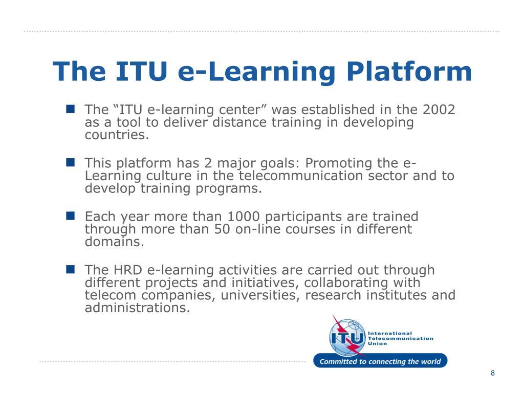 The ITU e-Learning Platform