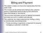 billing and payment