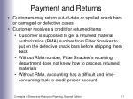 payment and returns17