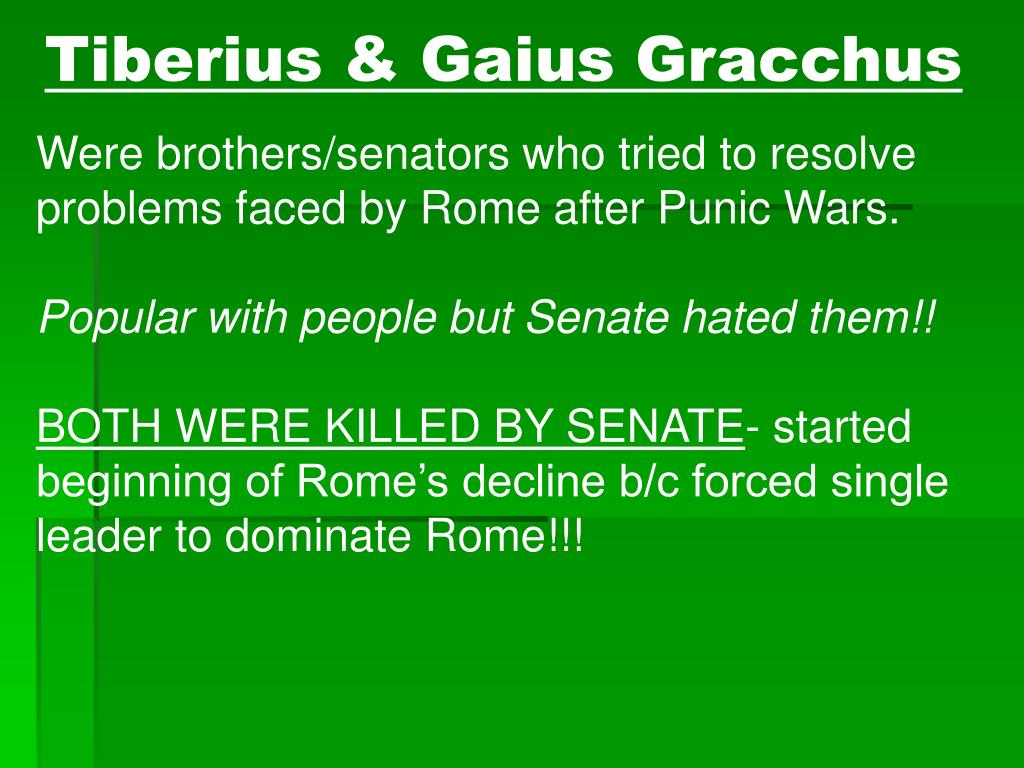 tiberius gracchus vs the senate essay Need essay sample on gaius gracchus: influence on rome we will write a cheap essay sample on gaius gracchus: influence on rome.