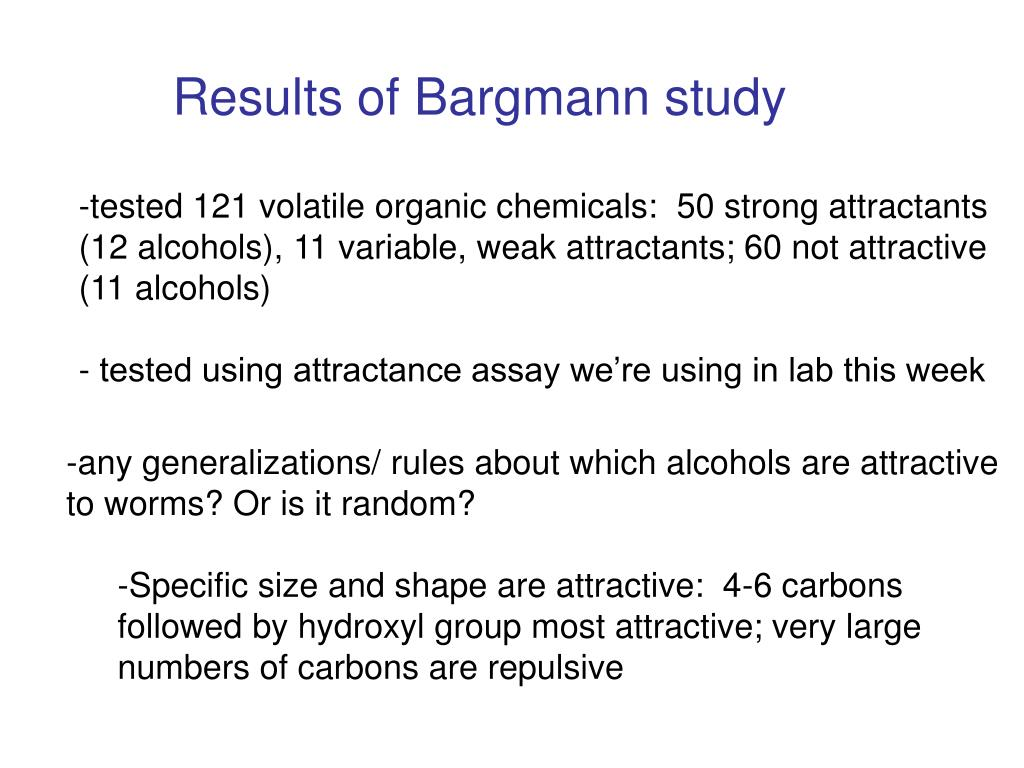 Results of Bargmann study