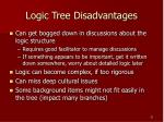 logic tree disadvantages