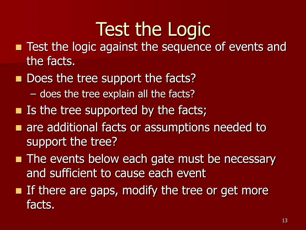 Test the Logic