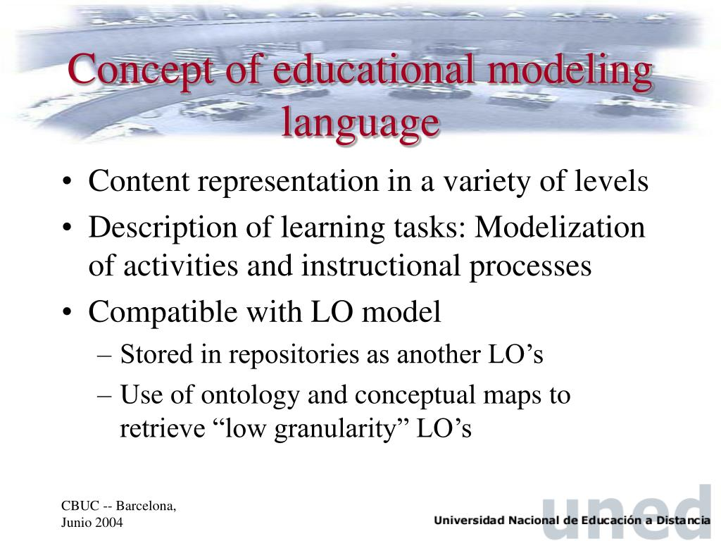 Concept of educational modeling language