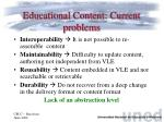 educational content current problems