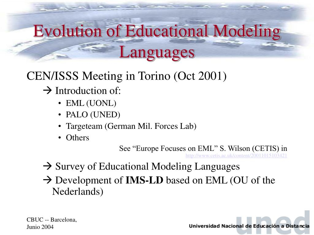 Evolution of Educational Modeling Languages