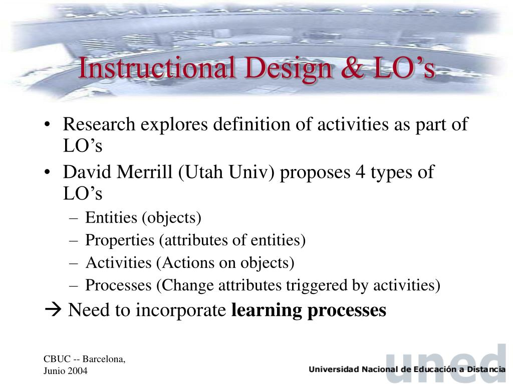 Instructional Design & LO's