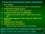proving the information center hypothesis