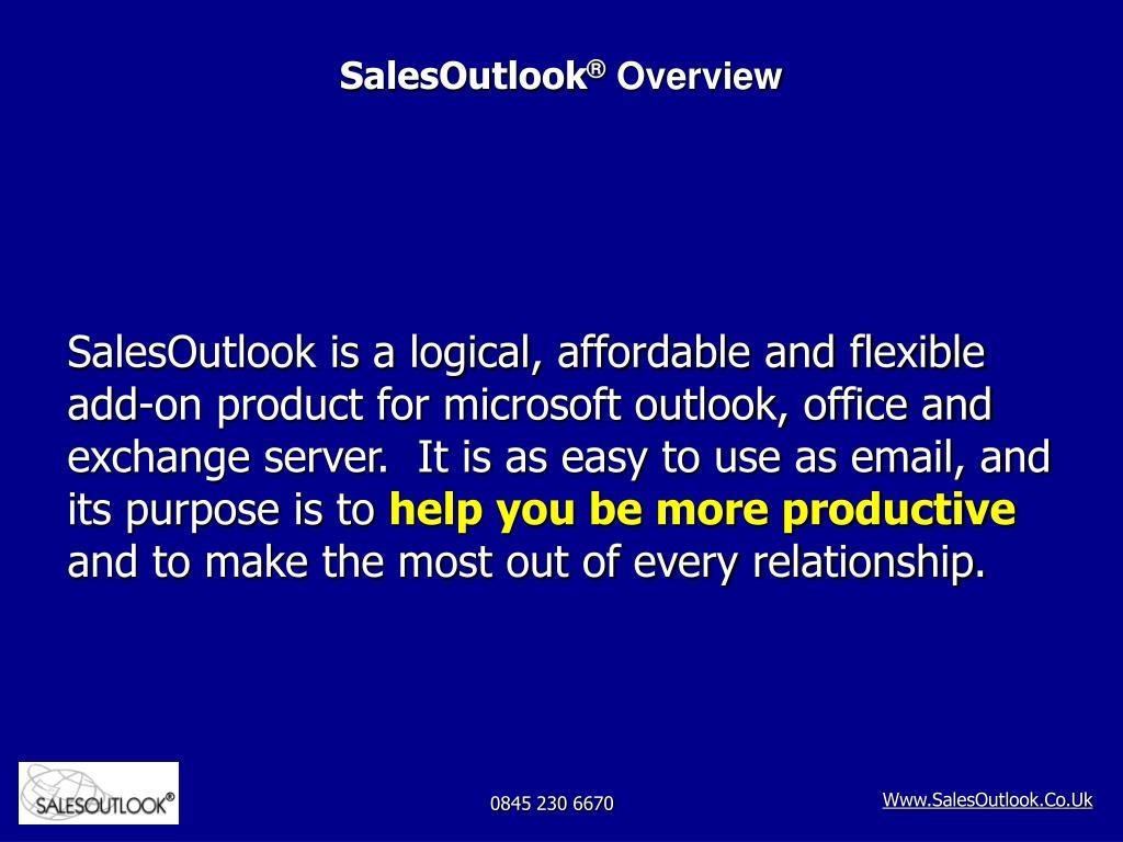 salesoutlook overview l.