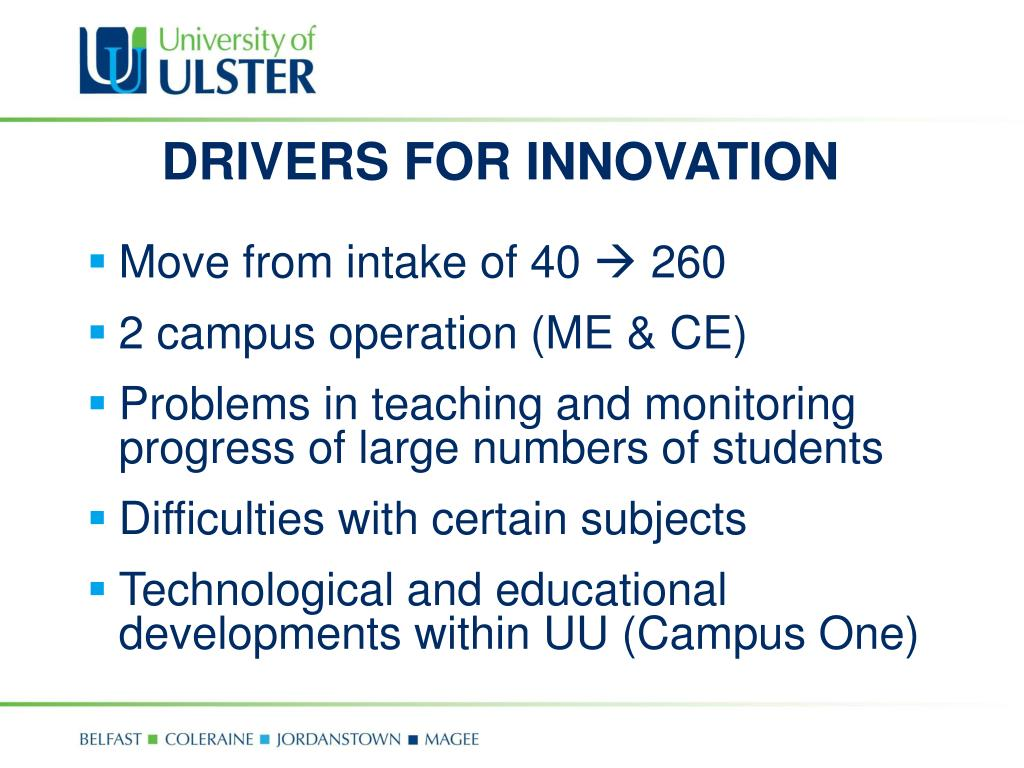 DRIVERS FOR INNOVATION