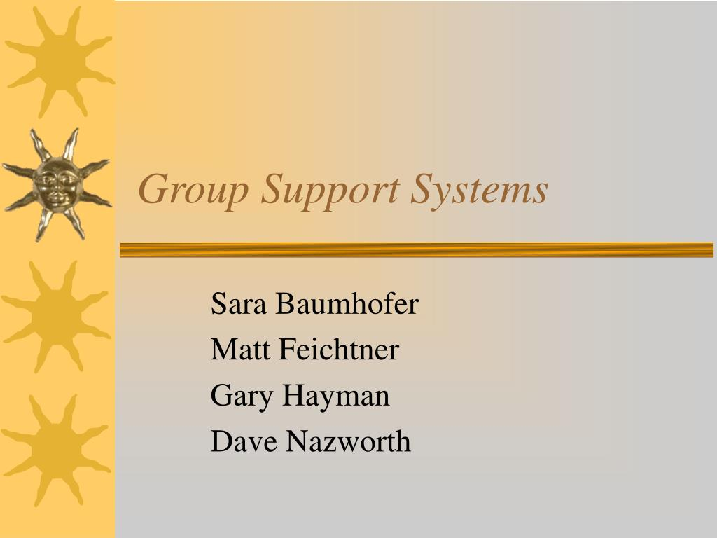 group support systems l.