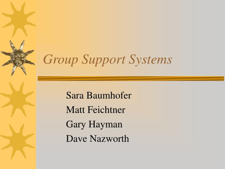 group support systems n.