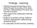 findings learning