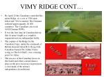 vimy ridge cont