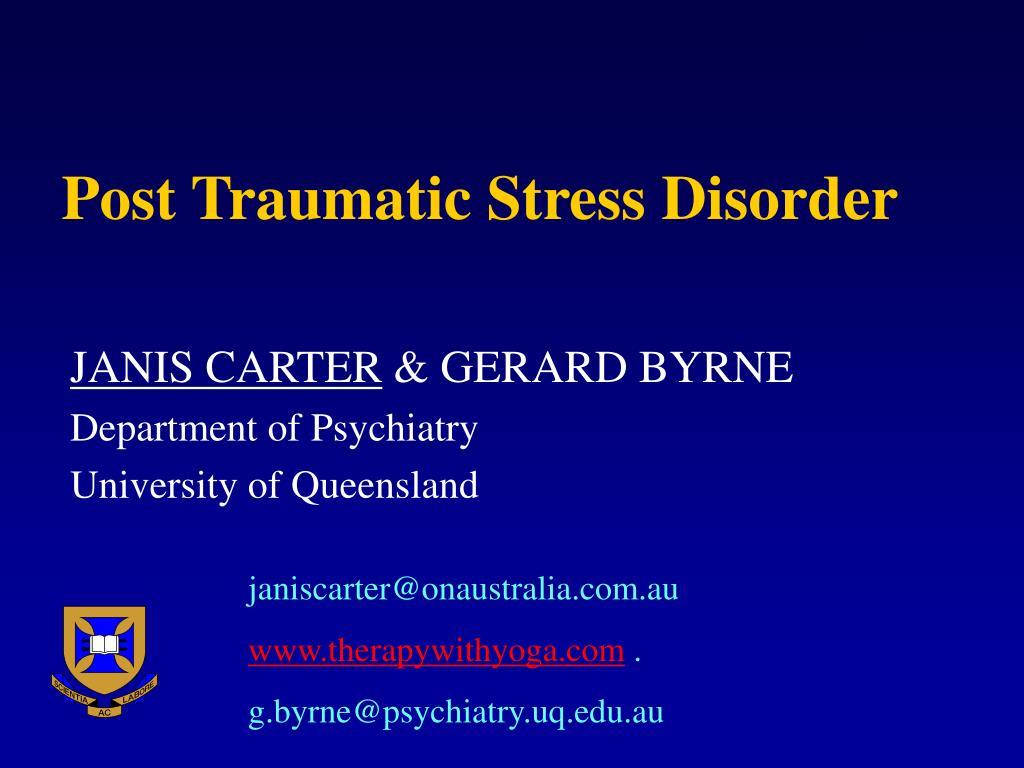 post traumatic stress disorder l.