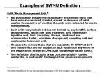 examples of swmu definition