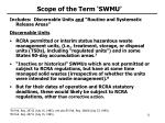 scope of the term swmu