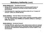 statutory authority cont
